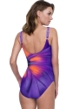 Gottex Belle Fleur Purple Square Neck One Piece Swimsuit