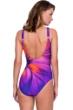 Gottex Belle Fleur Purple Mastectomy High Neck One Piece Swimsuit