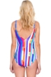 Gottex Carnival V-Neck Plunge High Back One Piece Swimsuit