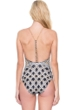 Gottex Chains of Gold High Neck Braided Chain Y-Back One Piece Swimsuit