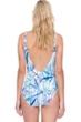 Gottex Exotic Paradise Blue Square Neck One Piece Swimsuit