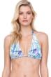Gottex Exotic Paradise Blue Halter Triangle Bikini Top