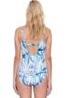 Gottex Exotic Paradise Blue D-Cup Surplice One Piece Swimsuit