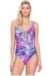 Gottex Felicity Purple Square Neck One Piece Swimsuit
