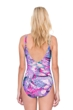 Gottex Felicity Purple Surplice One Piece Swimsuit