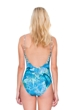 Gottex Felicity Blue Underwire D-Cup Round Neck One Piece Swimsuit