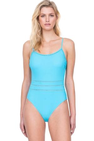 Gottex Finesse Aqua Lingerie One Piece Swimsuit