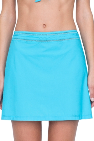 Gottex Finesse Aqua Cover Up Side Slit Skirt