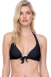 Gottex Finesse Black Tie Front Halter Underwire Bikini Top