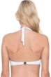 Gottex Finesse White Tie Front Halter Underwire Bikini Top