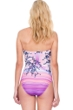 Gottex Hanami Bandeau Strapless High Leg One Piece Swimsuit