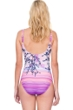 Full Coverage Gottex Hanami Shaped Square Neck High Back One Piece Swimsuit
