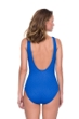 Gottex Jazz Sapphire Textured Mock Surplice One Piece Swimsuit