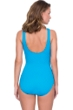Full Coverage Gottex Jazz Turquoise Textured Mock Surplice High Back One Piece Swimsuit