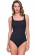 Gottex Jazz Black Textured Square Neck One Piece Swimsuit