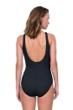 Gottex Jazz Black Textured Mastectomy High Neck One Piece Swimsuit