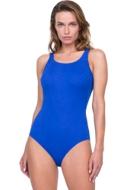 Gottex Jazz Sapphire Textured Mastectomy High Neck One Piece Swimsuit