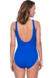 Gottex Jazz Sapphire Textured Mastectomy High Neck One Piece Swimsuit
