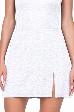 Gottex Jazz White Textured Cover Up Side Slit Skirt