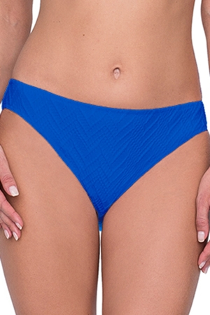 Gottex Jazz Sapphire Textured Classic Mid Rise Hipster Bikini Bottom