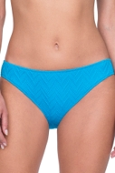 Gottex Jazz Turquoise Textured Classic Mid Rise Hipster Bikini Bottom