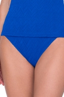Gottex Jazz Sapphire Textured High Leg Tankini Bottom