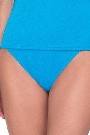 Gottex Jazz Turquoise Textured High Leg Tankini Bottom