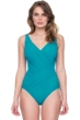 Gottex Lattice Peacock Surplice One Piece Swimsuit