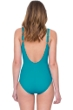 Gottex Lattice Peacock Square Neck One Piece Swimsuit