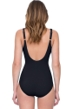 Gottex Lattice Black Surplice One Piece Swimsuit