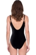 Gottex Makeda Queen of Sheba Black Mesh Laser Cut Lingerie Velvet One Piece Swimsuit
