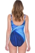 Full Coverage Gottex Northern Lights Mock Surplice High Back One Piece Swimsuit