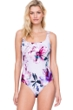Full Coverage Gottex Primrose Square Neck High Back One Piece Swimsuit
