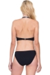 Gottex Prism Black and White Deep Plunge Halter Cut Out Monokini One Piece Swimsuit