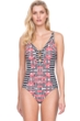 Gottex Retro Chic V-Neck One Piece Swimsuit