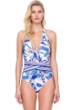 Gottex Sakura Halter Tie Back One Piece Swimsuit