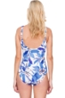 Gottex Sakura Square Neck High Back One Piece Swimsuit