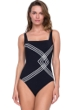 Gottex Sinatra Black Square Neck One Piece Swimsuit