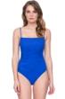 Gottex Vista Blue Square Neck Lingerie Underwire One Piece Swimsuit
