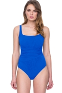 Gottex Vista Blue Square Neck One Piece Swimsuit