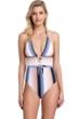 Gottex Collection Alba Deep Plunge Halter One Piece Swimsuit