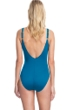 Gottex Collection Bardot Lagoon Square Neck One Piece Swimsuit