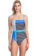Gottex Classics Blue Lagoon Blue Square Neck Underwire One Piece Swimsuit