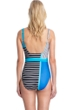 Full Coverage Gottex Classics Blue Lagoon Blue Square Neck High Back One Piece Swimsuit