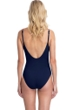 Gottex Collection Blue Marine Navy Round Neck One Piece Swimsuit