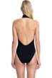 Gottex Collection Cabaret Black High Neck Open Back Cut Out One Piece Swimsuit