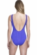 Gottex Essentials Cosmos Periwinkle Textured Scoop Neck High Leg Underwire One Piece Swimsuit