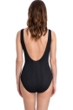 Gottex Essentials Cosmos Black Textured Surplice One Piece Swimsuit