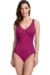 Gottex Essentials Cosmos Cherry Textured Surplice One Piece Swimsuit