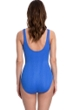 Full Coverage Gottex Essentials Cosmos Periwinkle Textured Surplice High Back One Piece Swimsuit